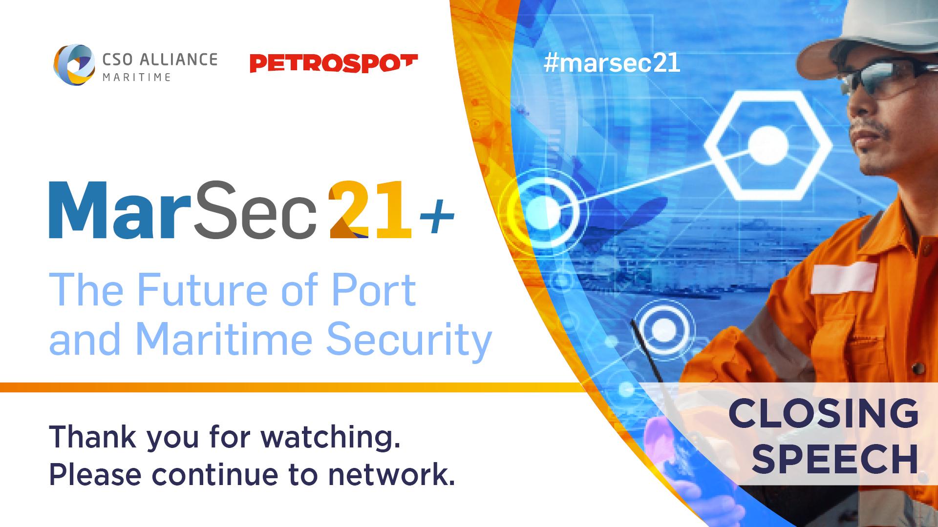 MarSec 21+ Closing remarks